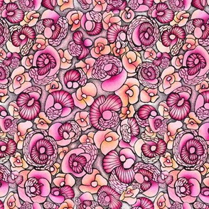 Stone flowers. Abstract pink
