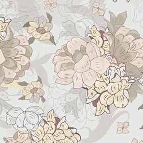Moody Floral Natural Peonies