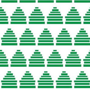 Mod beehive block print stripes in green and white