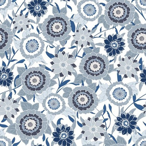 Victoria Floral Chambray Blue