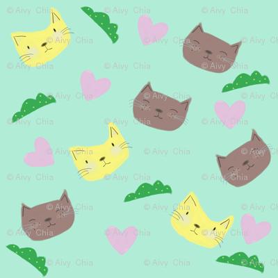 Spoon-flower-cat-kingdom-mint-1_preview