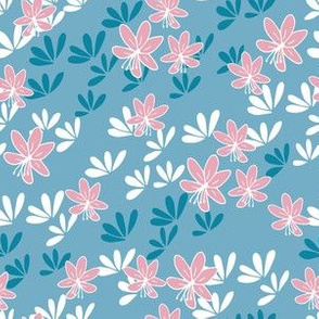 Cherry blossom breeze blue and pink
