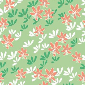Cherry blossom breeze Green Coral