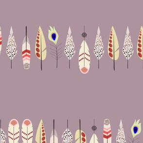 Painted feather line