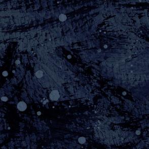Abstract Lake Loon navy blue dark painted watercolor