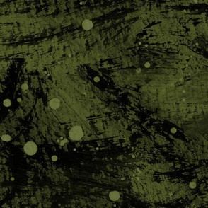 Abstract Lake Loon moss artichoke green painted watercolor