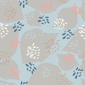 flutter in pink and blue /grey