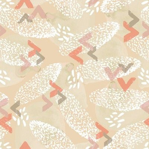 birds of a feather in coral