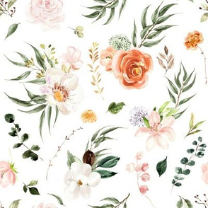 Whimsical Floral Garden // White