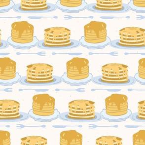 Cute vector homemade pancake day breakfast illustration