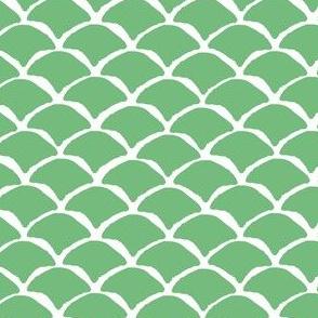 """4"""" GREEN MERMAID SCALES"""