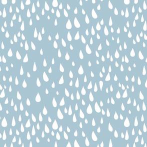 Simple Rain Pattern - Large Light Blue