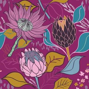 Lusciously Moody Proteas