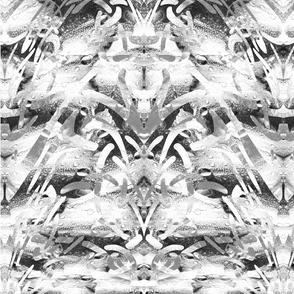 Mariposa Black and White Mirror Tile