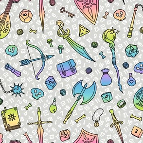 RPG Quest Large in Pastel Rainbow Gradient