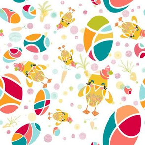 A Groovy Chick in a Spring Garden
