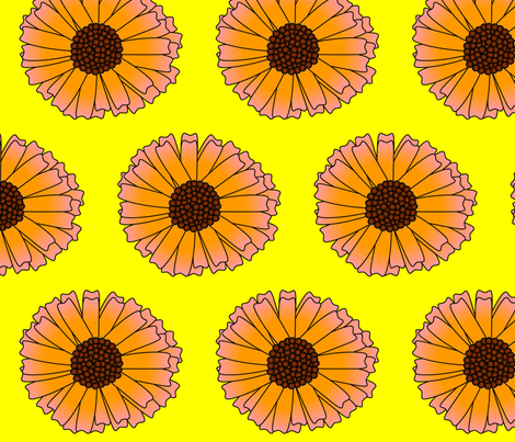 giantdaisy fabric by spunky_eclectic on Spoonflower - custom fabric