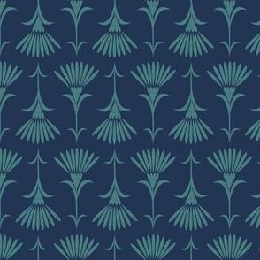 Flora - Indigo & Turquoise