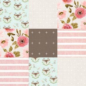 Little Doe Faux Quilt 6""
