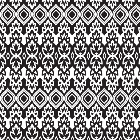 Boho Chic - Black & White fabric by bohemiangypsyjane on Spoonflower - custom fabric