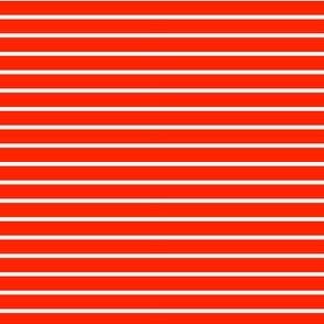 red thin white stripes
