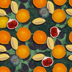 Maximalist  Bold Oranges with Figs//Retro Fruit Obsession//Kim Marshall