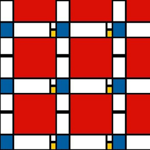 3 inch Mondrian Composition ii in Red, Blue, and Yellow
