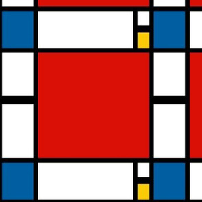 6 inch Mondrian Composition ii in Red, Blue, and Yellow