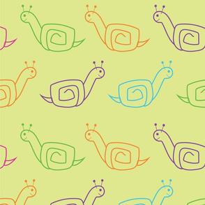 Colorful Snails - large