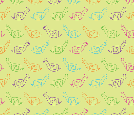 Colorful Snails - small fabric by orangepoppydesigns on Spoonflower - custom fabric