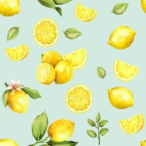 Watercolor Lemons // Skeptic Green