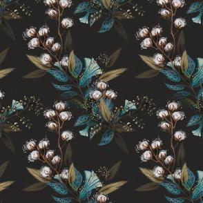 Moody Cotton Flowers//Smaller Print//Kim Marshall 10