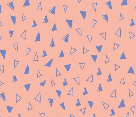 Tumbling-triangles-periwinkle-on-peach-01_shop_preview