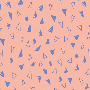 Tumbling Triangles periwinkle on peach-01
