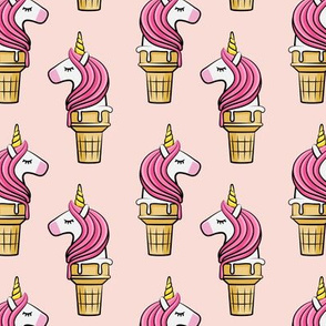 Unicorn Cones - Unicone -  pink on pink - LAD19