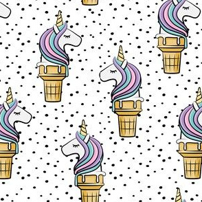 Unicorn Cones - Unicone - black  polka 2 - LAD19