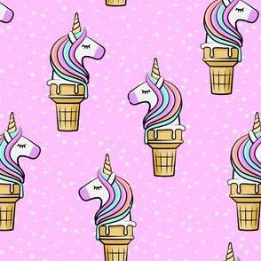 Unicorn Cones - Unicone - pink  polka - LAD19