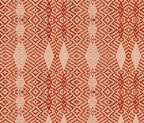 ikat-cavern_clay_red_blush fabric by wren_leyland on Spoonflower - custom fabric