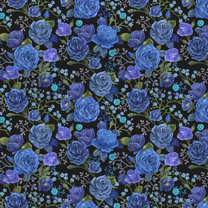 Moody Blue Roses Small