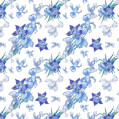 Blue Orchids French Boho