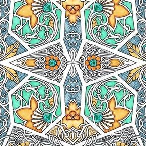 Flowers Go Art Nouveau