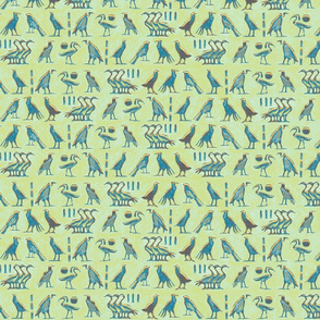 egypt_bird_hieroglyph_mint teal