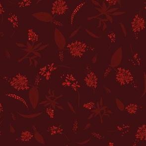 flowers in dark reds