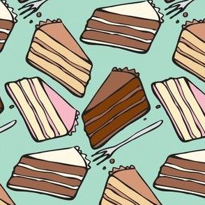 Sweet slices (small scale, blue background)