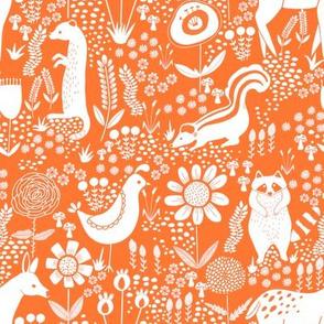 folk animals orange