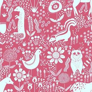 folk animals pink