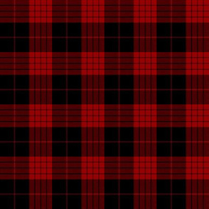 Cameron black and red tartan variant, 2""