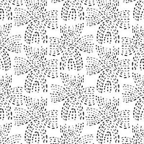 dot cross - black - small quilt size