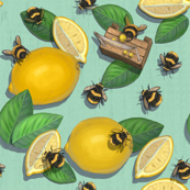 Widdle Bitty Bees//Lemonade Stand Mint//Kim Marshall