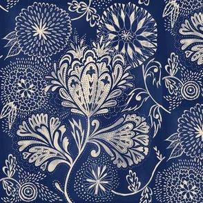indigo florals